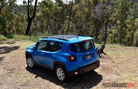 jeep renegade blue 2016 jeep renegade longitude review video performancedrive