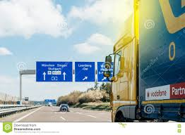 Autobahn Germany Map by Truck On German Autobahn Higway In Front Of Street Signs Editorial