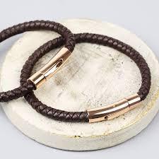 leather bracelets for men personalised men u0027s brown leather bracelet by lisa angel