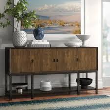 buffet sideboard cabinet storage kitchen hallway table industrial rustic industrial sideboards buffets joss