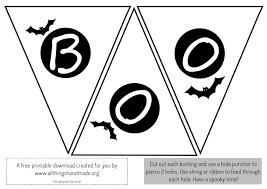halloween template printable home decor printable scary halloween