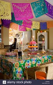 mexican christmas decorations in kitchen of a victorian house in