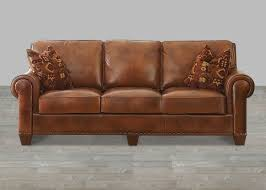 New Leather Sofas For Sale Silverado Leather Sofa Nail With 2 Accent Pillows