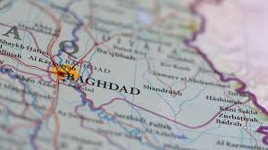 baghdad on a map 4k baghdad iraq on map closeup stock footage videoblocks