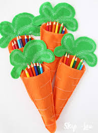 felt carrot pencil holders for the child u0027s easter table an easy