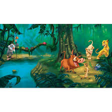 roommates jl1253m disney lion king chair rail prepasted mural with