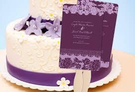 purple wedding programs color monday classic lace wedding program fanstruly engaging