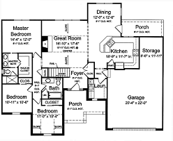 3 bedroom floor plans with garage home plans