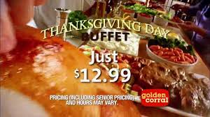 golden corral thanksgiving day buffet tv commercial new traditions