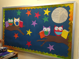 new october bulletin board owls book display ideas pinterest