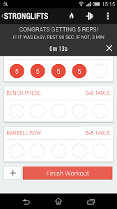 5x5 Bench Press Workout Stronglifts 5x5 Workout Apk Thing Android Apps Free Download