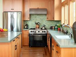 two tone cabinets in kitchen midcentury kitchen peninsula dark floor two tone cabinets tile