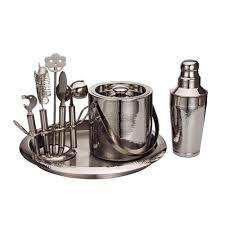 barware sets hammered bar set tools barware sets barware drinkware