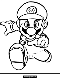 mario character coloring pages print coloring