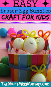 easy easter egg bunnies craft for kids simple and fun to make