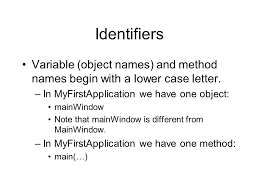 identifiers identifiers in java are composed of a series of
