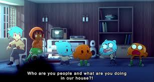 Who Are You People Meme - manyakis mike inel gets away with it the amazing world of gumball