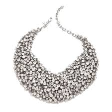 bib necklace crystal images Clustered crystal bib necklace shay accessories jpg