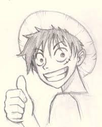 how to draw luffy one piece drawing and digital painting