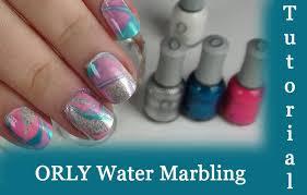 tutorial orly water marbling nail art youtube