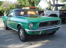 special green 1968 ford mustang rainbow of colors hardtop