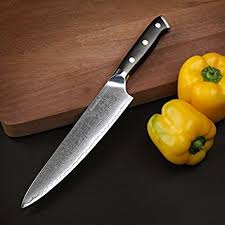 steel kitchen knives amazon com sunnecko 8 inch chef s knife damascus steel kitchen