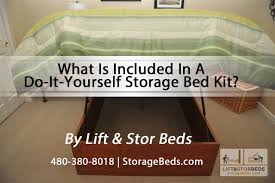 Build Platform Bed Storage Under by What Is Included In A Lift U0026 Stor Do It Yourself Storage Bed Kit