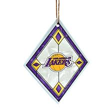 nba los angeles lakers glass ornament sports