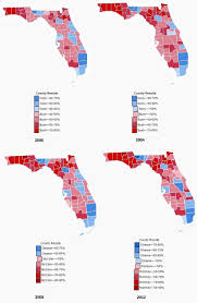 2004 Presidential Election Map by Battleground Florida Candidates Strategies Suggest Base Not