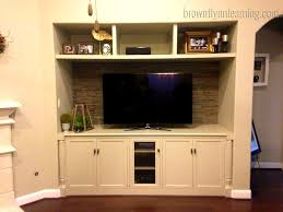 bathroom interesting built media cabinets for flat screen in