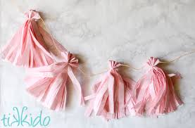 light pink paper dinner napkins how to make the easiest inexpensive tissue paper tassel garlands