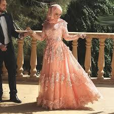 muslim engagement dresses dubai arabic a line sleeve applique lace muslim evening
