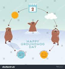 groundhog day infographic cute groundhogs stock vector 357637598