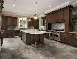 traditional kitchen floor options with kitchen island with