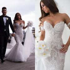 Wedding Dresses Discount Luxury Wedding Dresses 2016 Steven Khalil Mermaid Sweetheart Neck