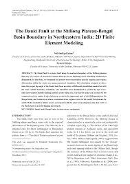 the dauki fault at the shillong plateau bengal basin boundary in