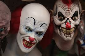 halloween president masks clown costumes banned from some halloween celebrations