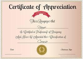 doc 578443 sample certificate of appreciation u2013 30 free