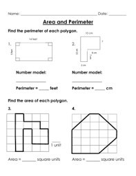 area and perimeter worksheet packet by brooke beverly tpt