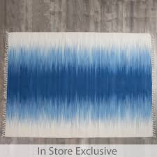 Blue Ombre Rug Ombre Floor Rug Pillow Talk