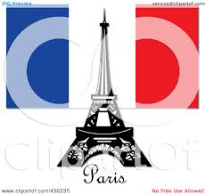 French Flag Eiffel Tower Royalty Free Rf Clipart Illustration Of The Eiffel Tower Against