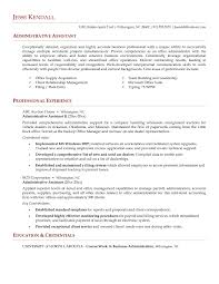 Administrative Assistant Example Resume Administrative Assistant Objective Statement Examples Template