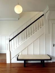 Staircase Makeover Ideas Beautiful Entryway And Staircase Makeover With Dark Wall And White