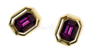 gaudy earrings pair of gaudy earrings stock image image of purple setting