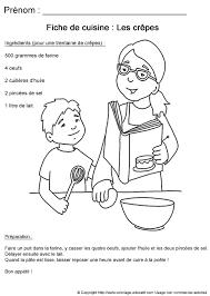 fiche cuisine coloriage educatif fiches de cuisine à colorier recette de cuisine