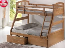 Triple Bunk Beds Single And Double Bunks Sleepland Beds - Double top bunk bed