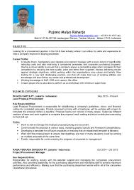 procurement resume samples raharjo pujono resume