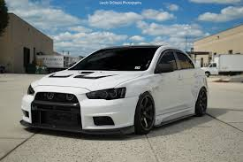 mitsubishi evo white mean looking evo stancenation form u003e function sports cars