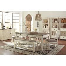 Ashley Dining Room by Ashley Furniture Bolanburg Rectangular Dining Set In White Gray