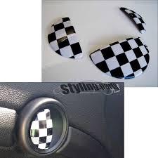 Checkered Flag Hyundai Service Mini One Cooper R50 R52 R53 Türgriffe Handschuhfach Checkered